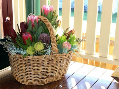 Native Flower Arrangement In A Basket - A How To Tutorial by Flowers DIY