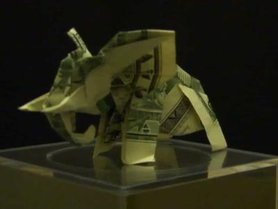 Origami Dollar Elephant by: Ken Hmoob