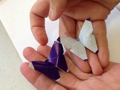 Origami earrings with humming