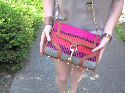 Outfit of the Day: Colorweave Bag and Crochet Shorts