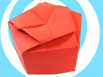 Paper Origami Pentagonal Gift Box Instructions