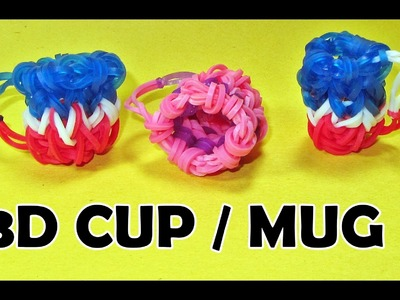 Rainbow Loom Charms: 3D CUP. MUG (DIY Mommy) How To Make