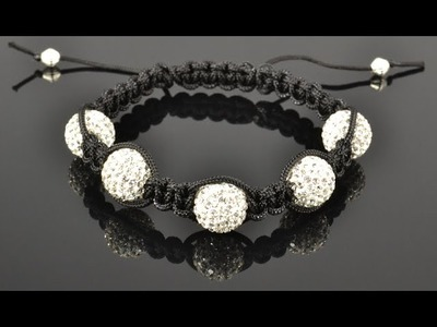 Shamballa Style Bracelet Tutorial