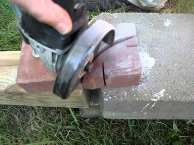 Simple DIY Curved Cut in Patio Pavers with HarborFreights Grinder. Masonry Blades