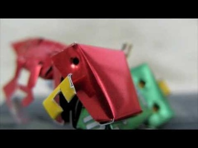 The War of Origami ROBOT and T rex Dinosaur ! ( CANBOT .COM ) Recycle Coke Soda Can Grimlock Optimus