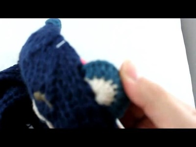 Toddler Baby Beanie Bear Hat Crochet Handmade Photography Prop Cap xm-2w Blue