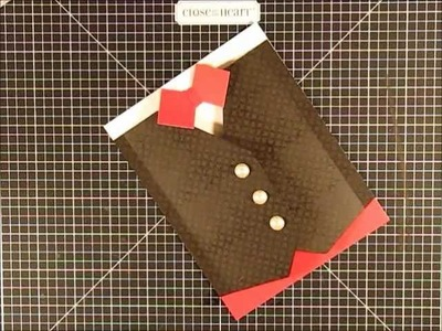 Valentines Vest Card for the Man in your Life