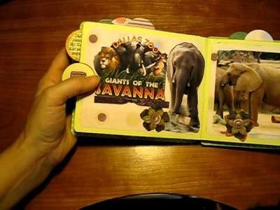 Zoo Paper Bag Mini Scrapbook Album Part 3