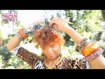 Autumn Afrocentric Front Head Wrap Tutorial