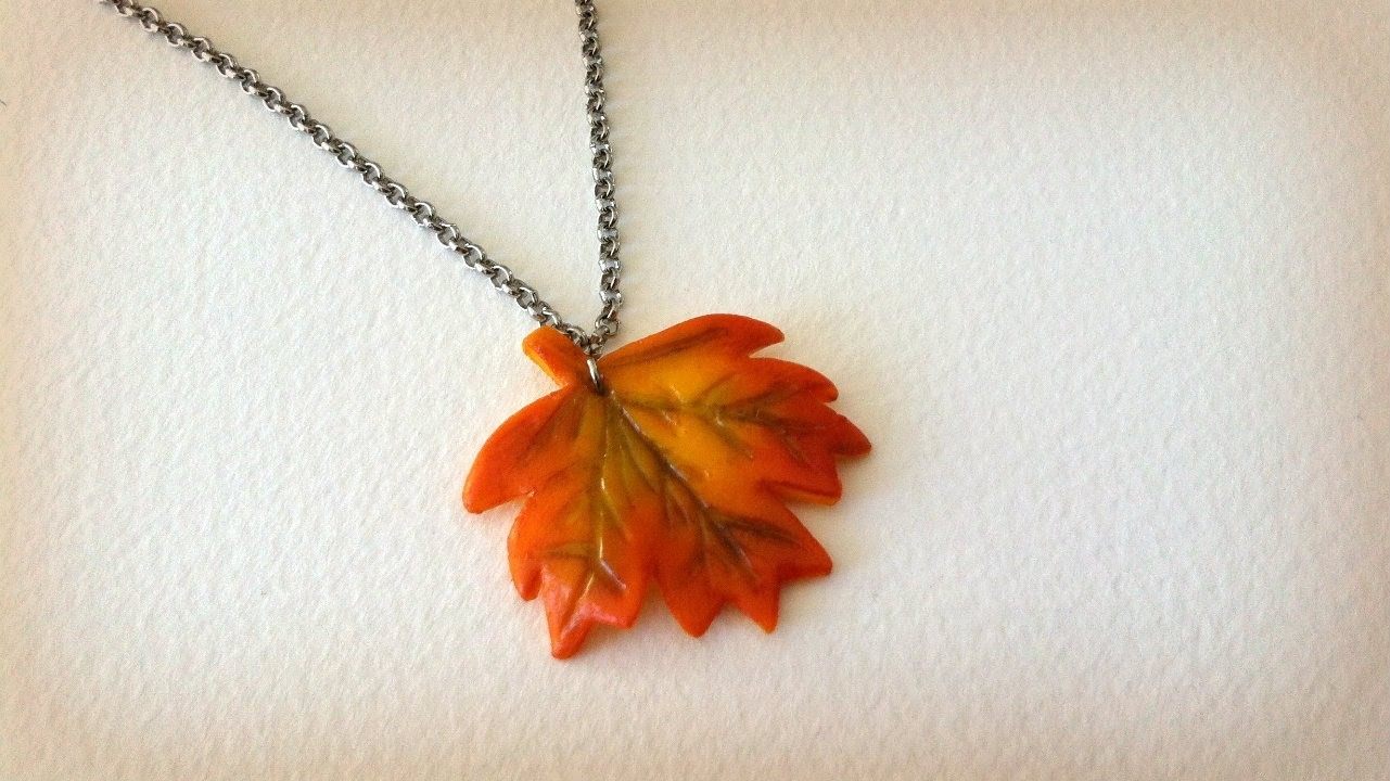 Autumn Leaf Charm Tutorial (Polymer Clay)