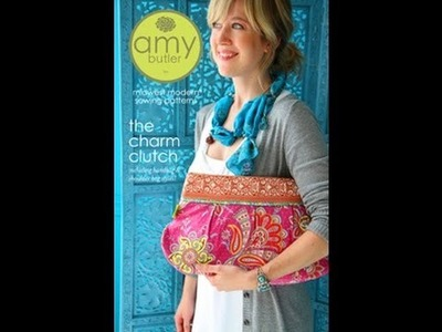 "Beginner How To Sew  Amy Butler ""The Charm Clutch"" Pattern Part 2 (Sewing the Exterior)"