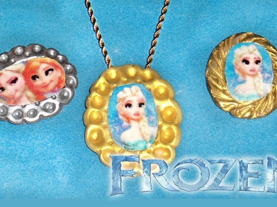 Disney's Frozen: Elsa & Anna Cameo Polymer Clay Tutorial | Frozen: Accesorios de Elsa y Anna