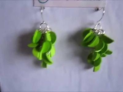 Handmade Jewelry - Paper Punch Folded Circle Earrings (FAH203) - Not Tutorial