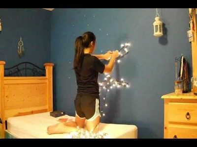 Home Decor Inspiration: Tree made out of Christmas Lights