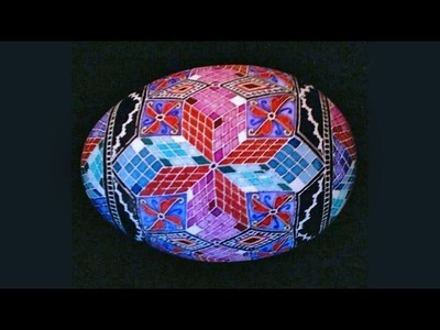 How to Create 3D Cube Designs for Pysanky (Steps, Tumbling Block. Baby Blocks, 3D Blocks)