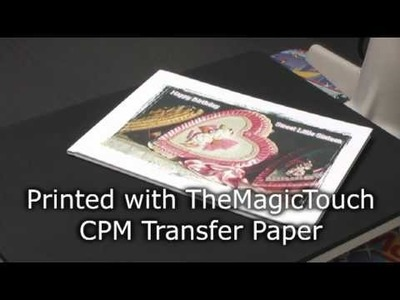 How to decorate a white Linen BookCover with TheMagicTouch® CPM Transfer Paper