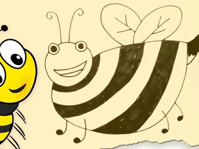How to Draw a Bumblebee by HooplaKidz Doodle | Drawing Tutorial