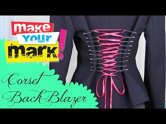 How to: Make a Corset Back Blazer with Safety Pins