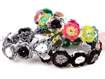 How to make a Flower Burst Rainbow Loom Bracelet - Advanced Starburst Tutorial