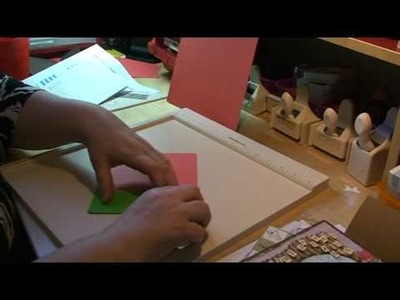 How to make a gate fold card and an envelope with the martha stewart score board.mpg