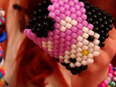 How to Make a Kandi Cuff - Deadmau5 Hello Kitty!