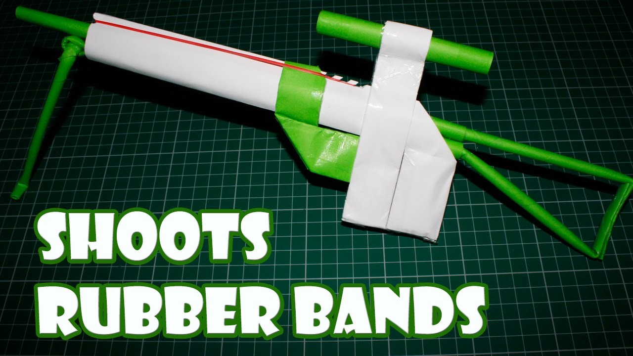 How to Make a Paper Sniper Rifle I Paper Gun Shoots Rubber Bands