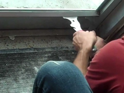 How to Remove Stops from a Window (Commercial Tempered Glass Door)