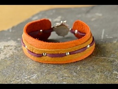 Jewelry How To - Make a Leather Stud Bracelet