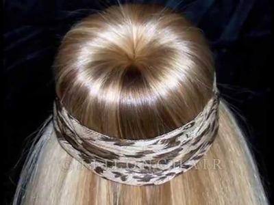 JJJs Bun slide show TWO. Long hair makes big buns!