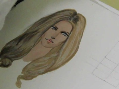 Lesson no.8,P.1 - HAIRSTYLE, Fashion Drawing