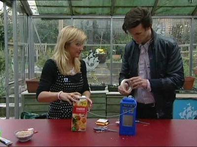 Matt Smith Makes a Tardis Bird Feeder