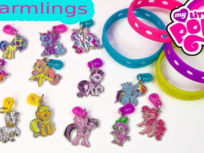 My Little Pony Charmlings and Bracelet MLP Pop on Charms Charmbracelet Jewelry Toy Review Unboxing