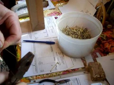 Nancy Today: Replacing wire in a Porcupine quill earring