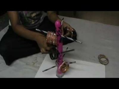 NIKSHIPTAM; How to make a  Bangle stand from waste