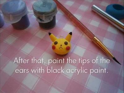 Pikachu Cupcake Tutorial - Polymer Clay