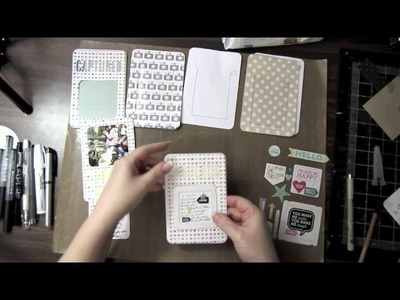 Pink Paislee Mini Accordion Fuji Instax Pocket Album