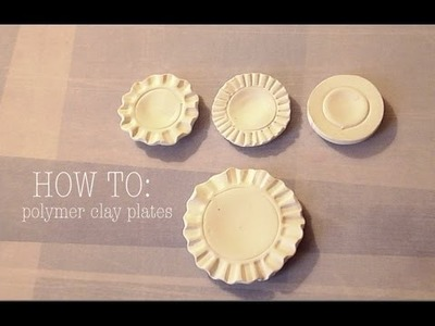 POLYMER CLAY PLATES - Tutorial