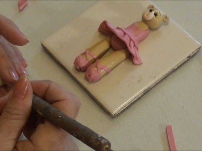 Polymer Clay Tutorial - How to Make a Ballerina Bear Ornament