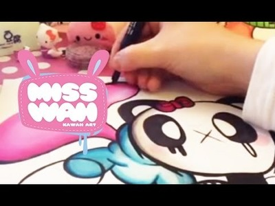 Promarker Blending tutorial kawaii panda