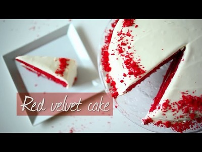 Red velvet cake recipe video - How to make a classic red velvet cake