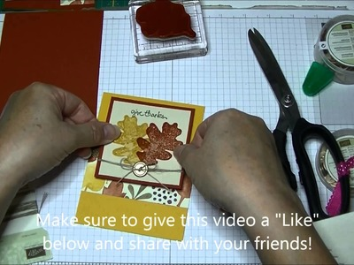 Stampin' Up! Quick Card:  Color Me Autumn
