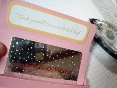 Stampin' Up! Treat Yourself Yummy Gift Card Holder