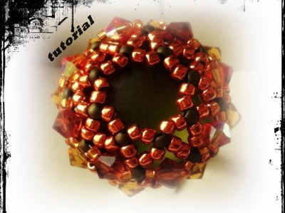 Tutorial perline | Anello Pumpkin con soft touch feat Halloween time :-) netted stitch