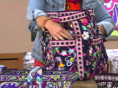 Vera Bradley Signature Print Get Carried Away Tote & Ditty Bag with Pat James-Dementri
