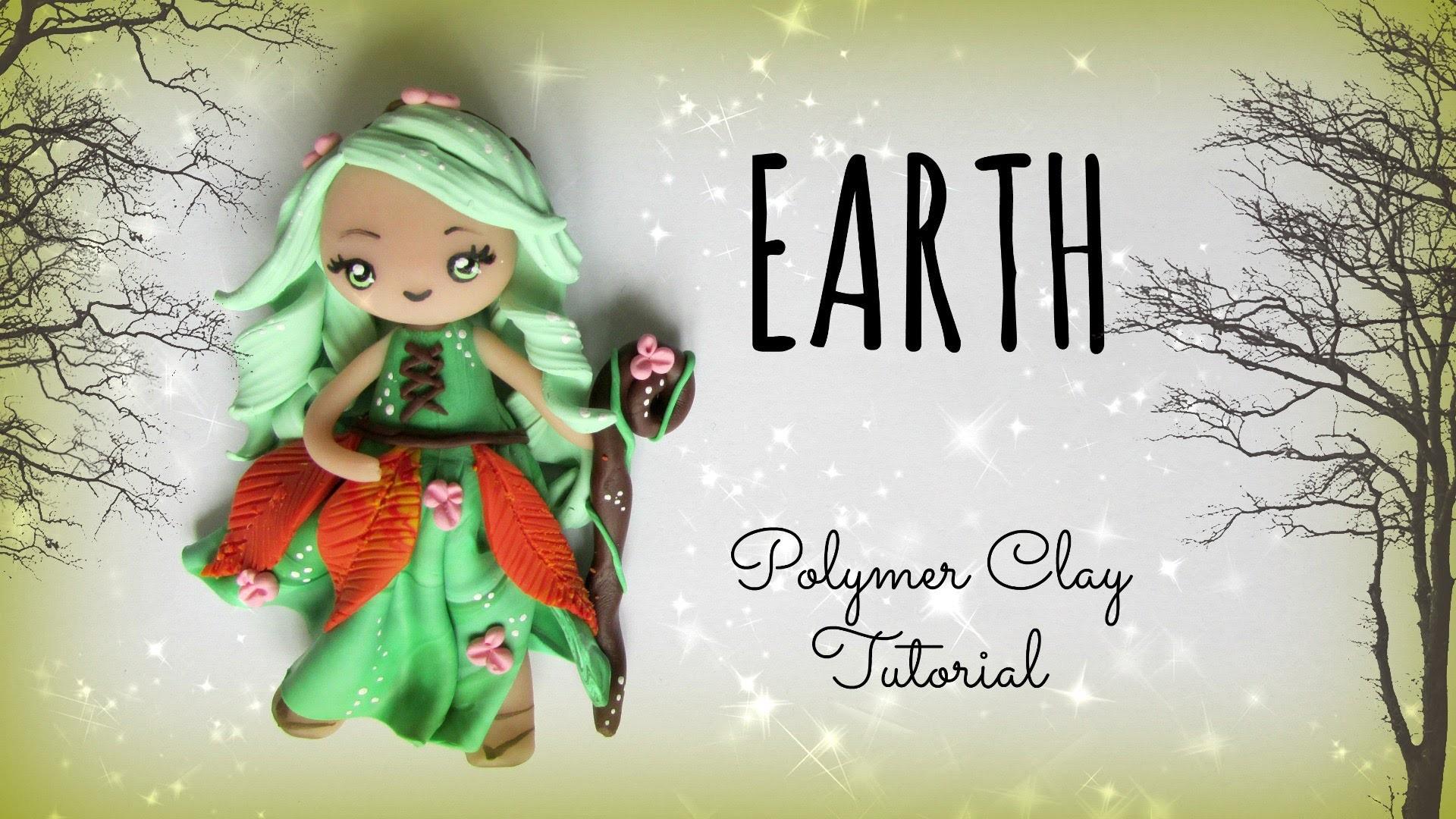 4 Elements - Earth - Polymer clay Tutorial ❀ Doll Chibi