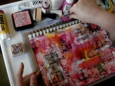 Art Journal Tutorial, finishing with collage Pt 2