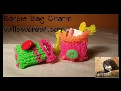 Barbie Bag Charm on the Rainbow Loom