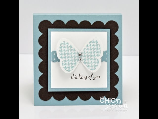 Butterfly Prints Post it Note Holder