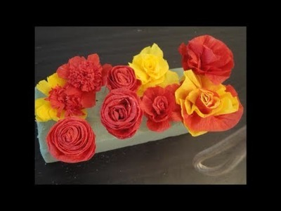 Crepe Paper (Streamer Paper) Flowers