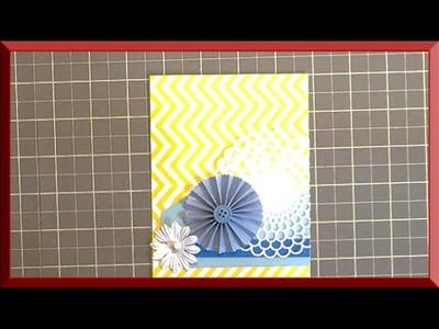 Cricut Explore - Doily & Rosette Card